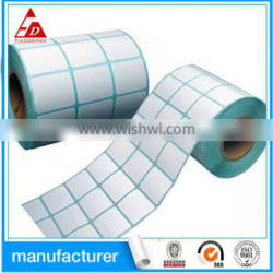 self adhesive packing roll sticker custom direct thermal paper label
