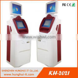 Free Standing Self Payment Touch Screen Kiosk With Cash Validator