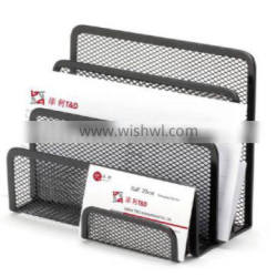B8026 black metal mesh office letter tray