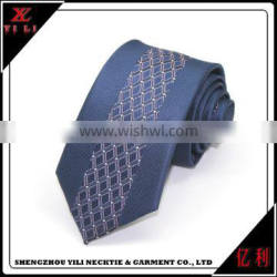 Custom new design colorful Wholesale soft fabric polyester neckties elastic