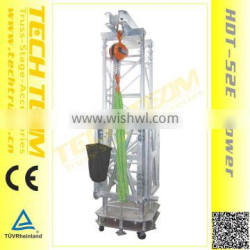 HDT-52E Tower height 20m loading 5000kg Ground Support Towe for lifting truss.