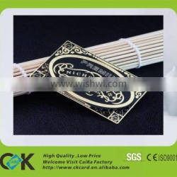Custom luxury metal business card from gold supplier