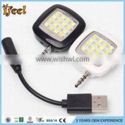 3.5mm Heaset Cold And Warm Lighting Phone Sync Flash LED Flash For Android Ios WP8 Smartphone