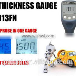 car paint thickness meter which could measuring max of 1500um
