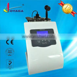 Skin tightening face lifting radio frequency device for home