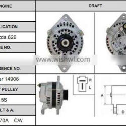Wholesale electric auto car alternator for Mazda 626 f820-18-300a alternator
