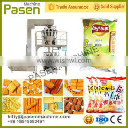 Automatic 10 heads weigher potato chips packing machine | 10 weighers chips packing machine