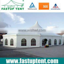 Multi-peak mixed Wedding party tent fireproof gazebo canopy tent prefab houses for 300 pepole