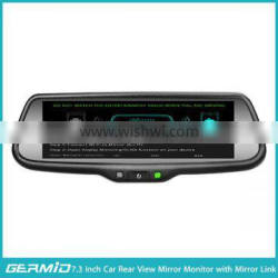 7.3 inch auto brightness rear view mirror monitor with mirror link and ultra high brightness monitor display