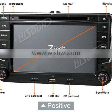 High quality 7 inch with gps car 2din vw with canbus