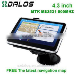 4.3inch WinCE 6.0 NAV receiver car gps multimedia portable navigation with 4GB meomory, free map