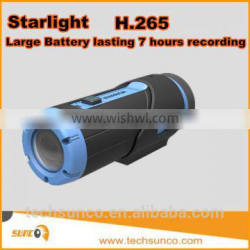 Newest sport dv action camera wifi waterproof night vision gsensor h265 mini bullet large battery dv action camera
