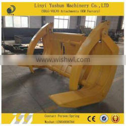 Durable log grapple for different brand of excavator