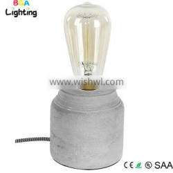 Concrete bedside lamps with electrical wire and EU plug