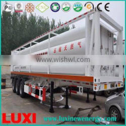 cng jumbo tube bundle container 25MPa fuel tanker trailer , hydrogen lorry trailers