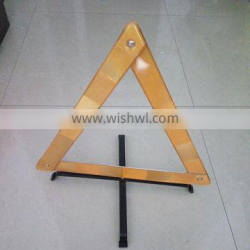 reflective safety triangle reflector with metal stand