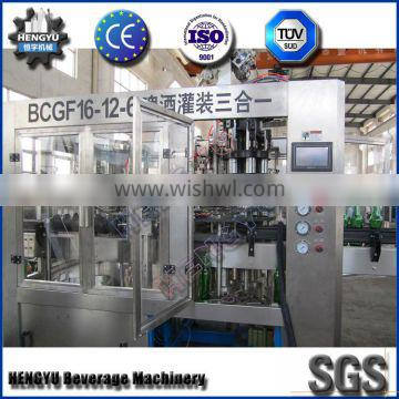BCGF16-12-6 Automatic glass bottled beer flushing filling and capping machine
