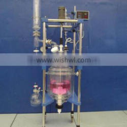glass jacketed reactor Manufacturers TOPTION three layer glass Reactor 20L with PTFE sealing price