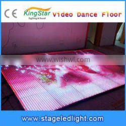 2016 China 7 segment LED Display Screen Video Dance Floor For Sale 3D Effect Stage Light Christmas Disco Club Party Favors