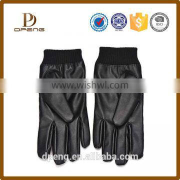Wholesale custom cheap leather Winter hand gloves Gloves with Touch screen capability