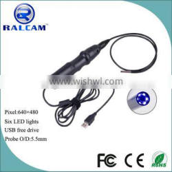 5.5m lens 6 led waterproof snake tube camera usb endoscopic