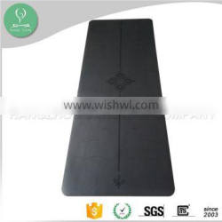 Waterproof 100 percent rubber cheap yoga mat manufacturer with Polyurethane surface