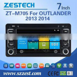 car cassette and cd dvd and gps for mitsubishi OUTLANDER 2013 2014 with Rear View Camera GPS BT TV Radio RDS