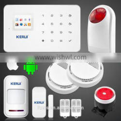 Hot promotion for KERUI G18 smart phone Control best gsm home alarm system