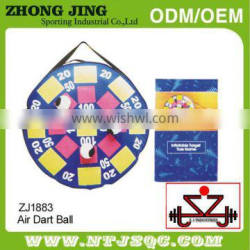 Ironsystem high grade colorful cloth sport toy hook and loop dart board