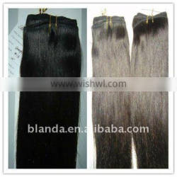 natural Chinese straight human hair wefts/virgin hair extensions