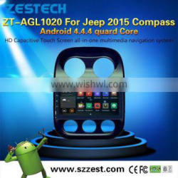 HOT SELL NEW Android 4.4.4 up to 5.1 car gps For Jeep 2015 Compass OBDII 1.6GHz MCU 3G WiFI