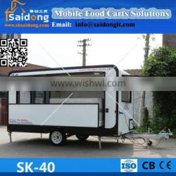 New!High quality customized supplied environmental friendly materials mobile food carts with low price