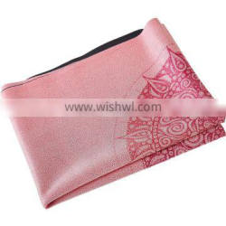 Welcome new design custom print eco friendly suede natural rubber yoga mat