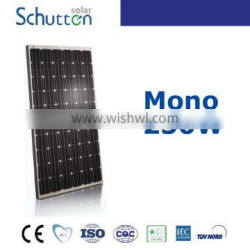 China best factory Schutten 250w Mono solar panel Anhui from China