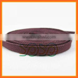 New Style Flat Cotton Shoelaces Waxed Shoe Laces for Boot