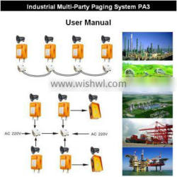 KNTECH PA3 intercom communication, Industrial Duplex Multi-Party Paging Broadcasting System, system of telephone