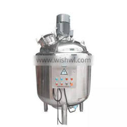 stainless steel sanitary powder alcohol liquid fertilizer mixing tank for sale