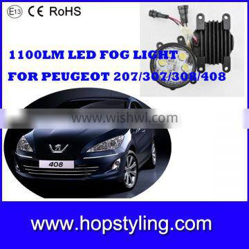 High quality auto fog light for Peugot ,16W 1100LM LED Fog lights,auto fog light for Peugeot 207 ,307,308,408