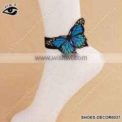 Fashion anklet ornaments blue butterfly designs feet chain for women