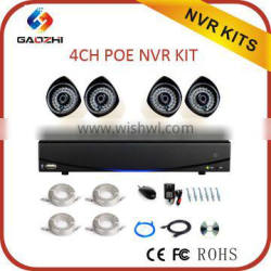 Low cost 4pcs 1080P video home hd security camera system,security camera system