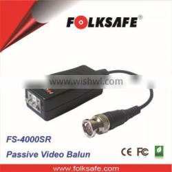 3-pin Push Pin Video Balun with Surge protectin CCTV Passive video balun ground loop isolated video balun, Folksafe FS- 4000SR