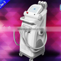 Elight + SHR + OPT + IPL Laser permanent hair removal machine with 3 handles / Multifunction beauty machine for sale