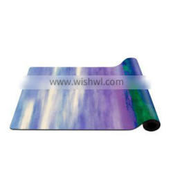 High quality eco friendly custom print suede natural rubber yoga mat OEM