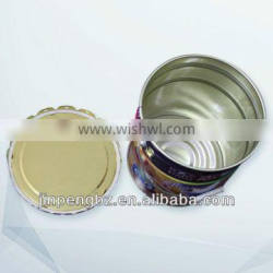 painting round tin can with lid