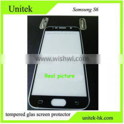 Factory price Premium Quality Perfect For samsung s6 Gorilla silk printing low factory wholesale price tempered glass screen pro