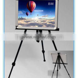 Telescopic Field Studio Painting Easel Tripod Display Stand, X Tripod Stand, poster stand