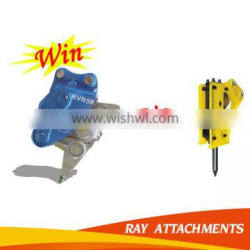 Hydraulic xcentric vibro ripper with ripper tooth for excavator used