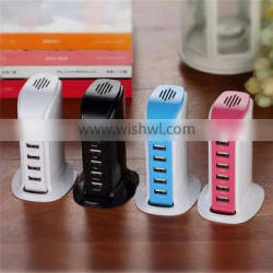 6Ports USB Power Adapter Wall Charger Portable Travel Charger