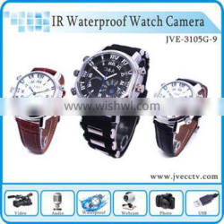 Fashionable 4 in 1 watch cam 32gb recording watch, 720p mini dvr recording watch, voice recorder dvr watch Max 32gb JVE-3105G-9