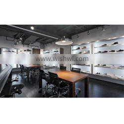 The newest shoe store design with fashion display showcase